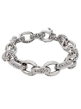 Pavé Oval Link Bracelet