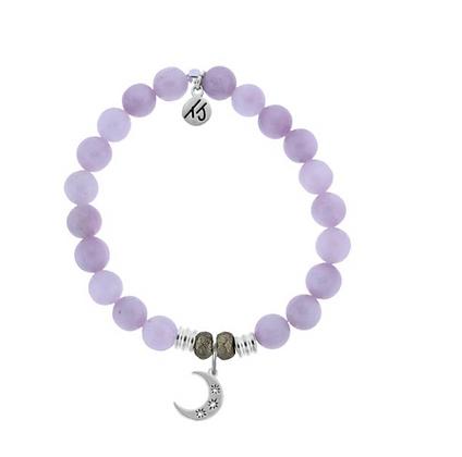 Kunzite Bracelet with Friendship Stars Charm