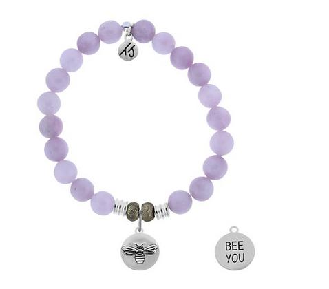 Kunzite Bracelet with Bee You Charm