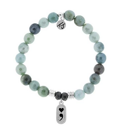 Amazonite Bracelet with Continue Charm