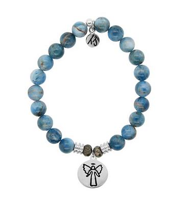 Arctic Apatite Bracelet with Guardian Angel Charm