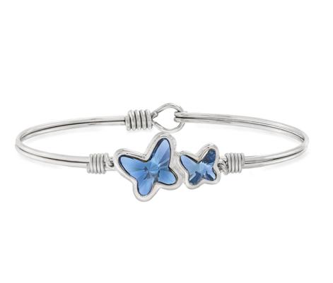 Butterflies Bracelet in Denim Blue