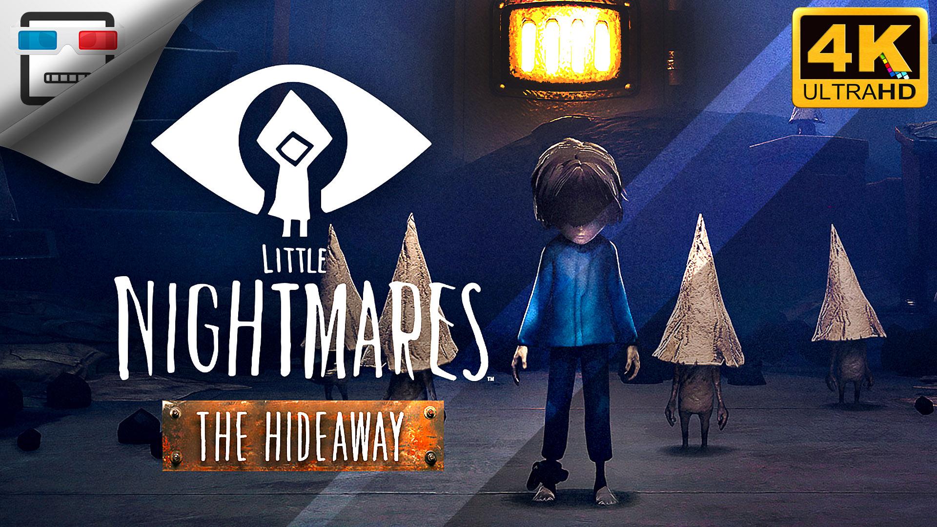 УБЕЖИЩЕ Игрофильм 4K60FPS Little Nightmares The Hideaway DLC Сюжет ужасы