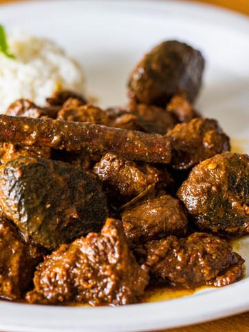 Lamb Buah Keluak with Rice