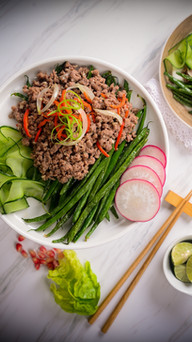 French Beans With Lamb Mince