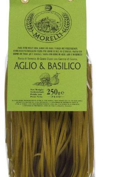 Linguine Ail et Basilique Morelli 250g