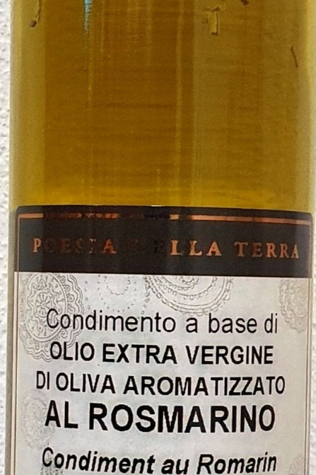 Huile aromatisée au Romarin, 250 ml, Gemignani Toscane