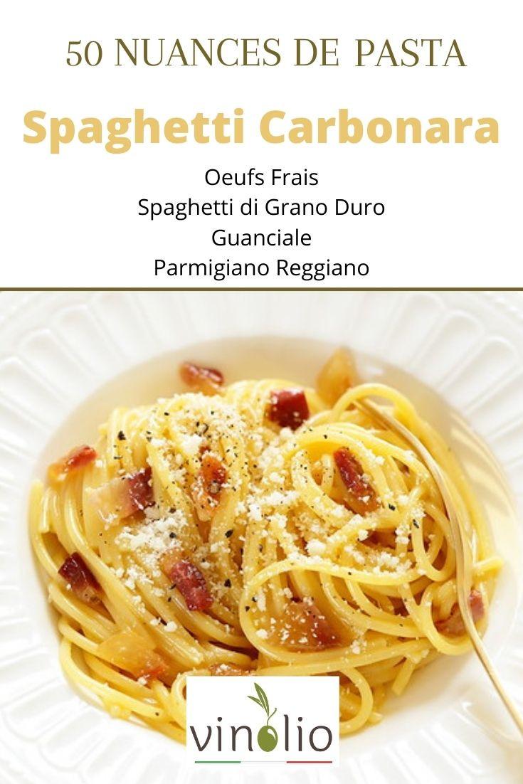 Spaghetti di Grano Duro, Ganciale, Oeufs Frais, poivre du Moulin