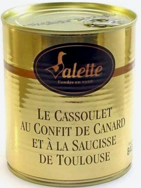 Cassoulet au  Confit de Canard et Saucisse de Toulouse 420g , Maison Valette