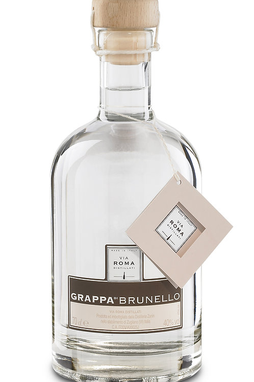 Grappa Brunello Via Roma 40%, Distilleria Zanin, 0.70 L