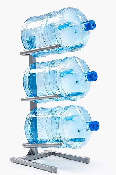 Подставка для 3-х бутылей серая