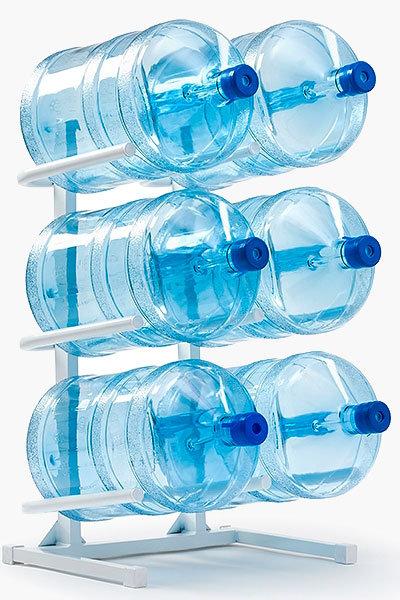 Подставка для 6-ти бутылей белая