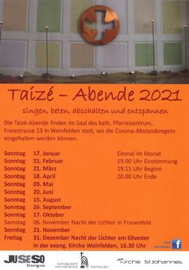 Taizé-Abende 2021