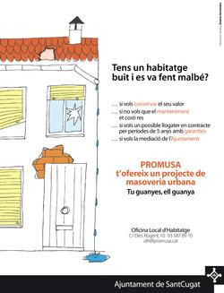 Masoveria urbana anuncio diario Sant Cugat