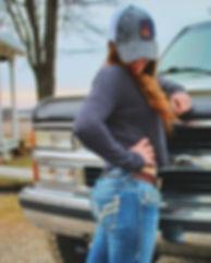 _barrel_racing_boss loves her #jkleatherconamebelt and custom hat patch!! 😍🌵💋