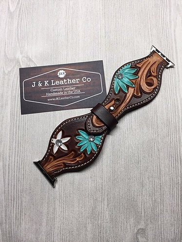 Wide Floral Watch Band
