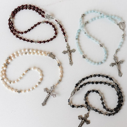 Single Line Pewter Rosary
