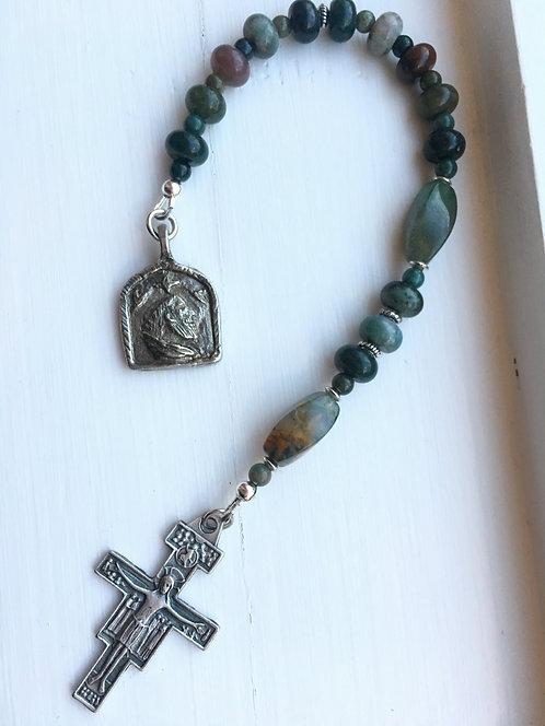 Jasper St. Francis Pocket Rosary