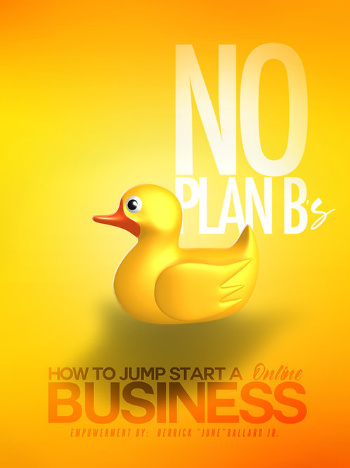 No Plan B's:  How To Jump Start A Successful Online Business