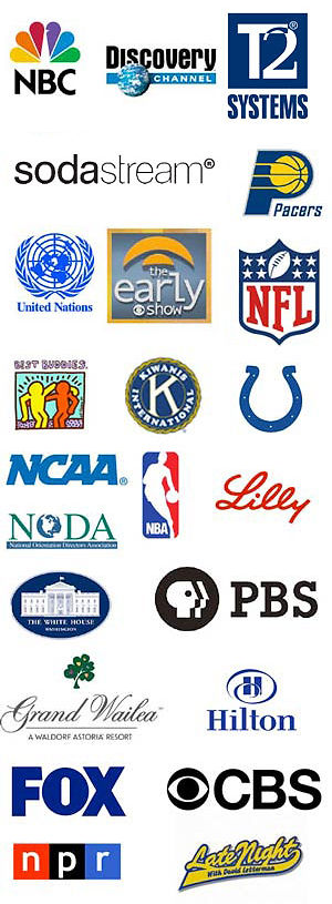 Logos of Kevin Wanzer past clients