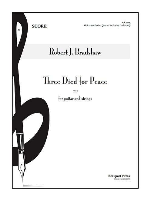 THREE DIED FOR PEACE (Guitar/Strings)