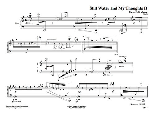 STILL WATER AND MY THOUGHTS II (Piano)