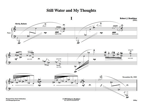 STILL WATER AND MY THOUGHTS I (Piano)