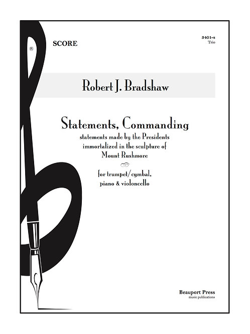 STATEMENTS, COMMANDING (Tpt/Cello)