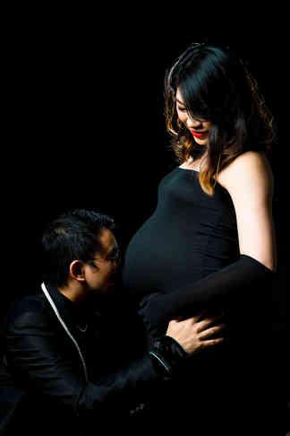 黑色孕婦攝影