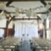 Full venue draping at Northease Manor