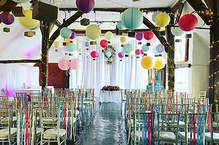 e featuring 115 pastel coloured hanging
