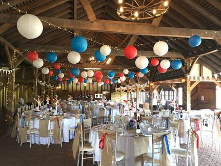 Red, white and blue French equine inspired wedding