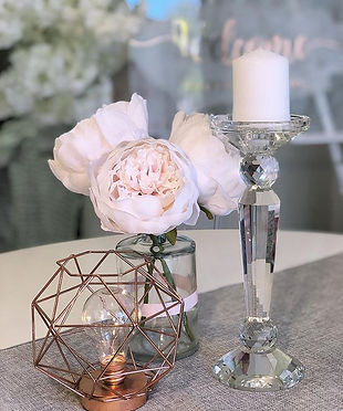 Crystal candlesticks for hire - 27cm
