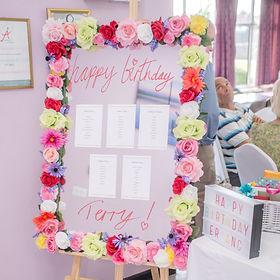 Bright flower mirror seating plan