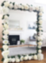 Cool wedding table plan idea - white flower mirror for hire