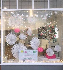 Bespoke Christmas window display West Sussex