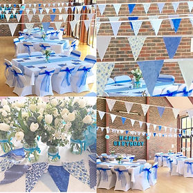 Village hall birthday party decorations St Mary's Felpham