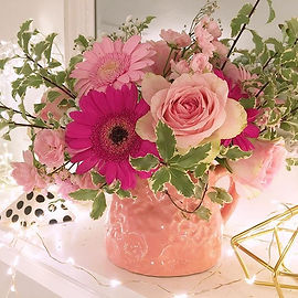 pastel flower arrangement