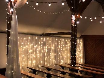 Fairy light curtain for hire