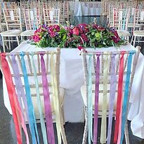 Ribbon chair decorations