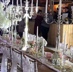 Crystal candlestick tablescape