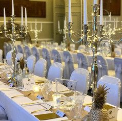 Silver candelabras for hire