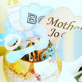 Bespoke baby shower decorations