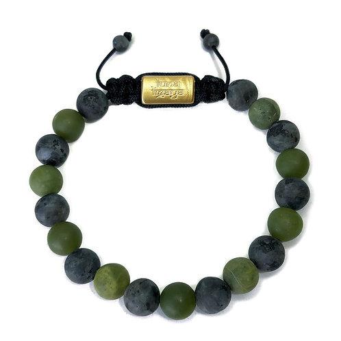 Jade and Black Labradorite