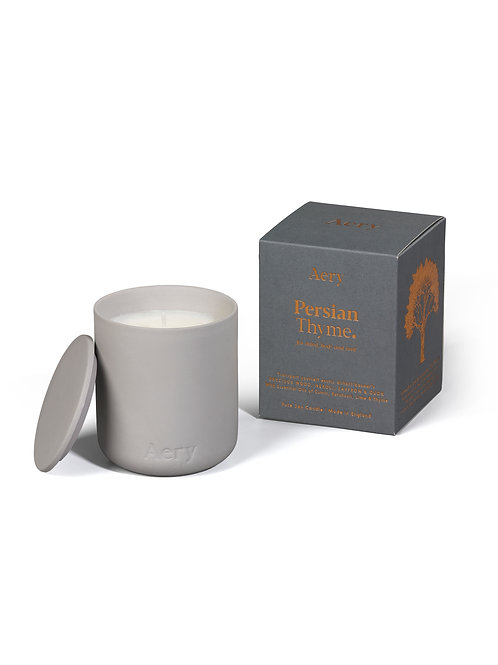 Persyan Thyme Candle - Grey Clay