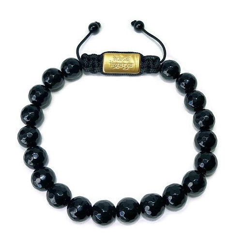 Black Agate Faceted