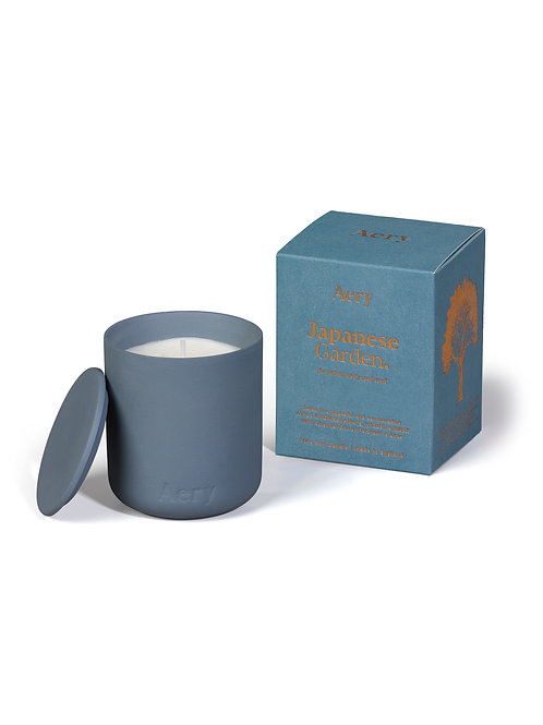 Japanese Garden Scented Candle - Blue Pot