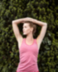 Classic top stripe virtually pink front.