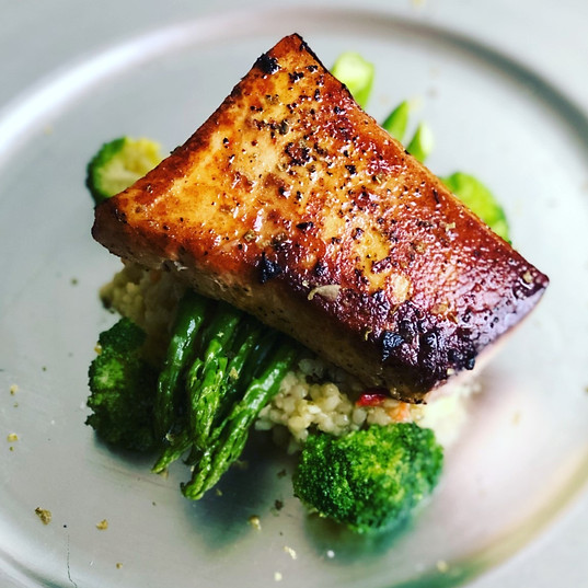 Pan Seared Scottish Salmon with Seasonal Vegetables