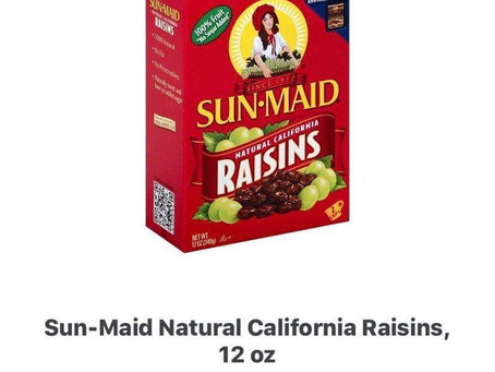 Earn .75 cents on Sun- Maid Natural California Raisins, using ibotta! Use my code uscldqn